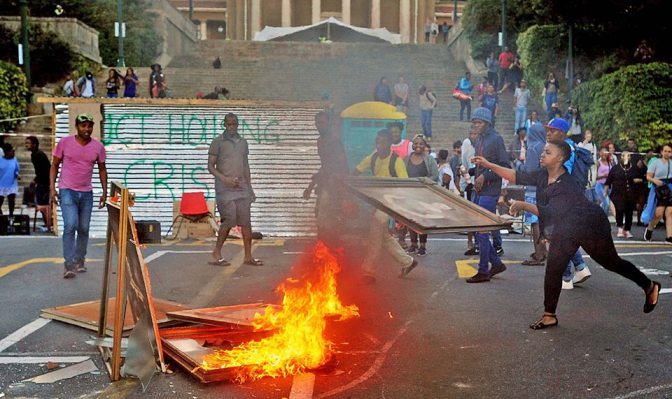 OF STUDENTS PROTESTS: ZIMBABWE vs SOUTH AFRICA