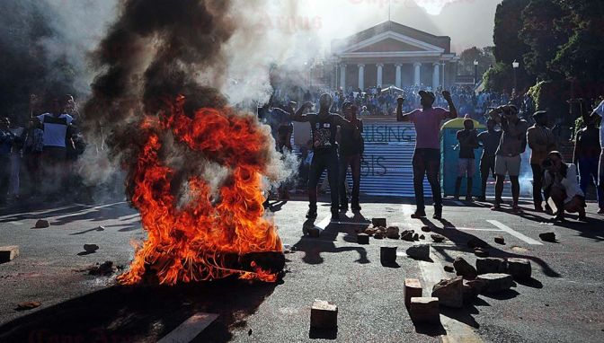 UCT Students' Protest Turns Ugly!