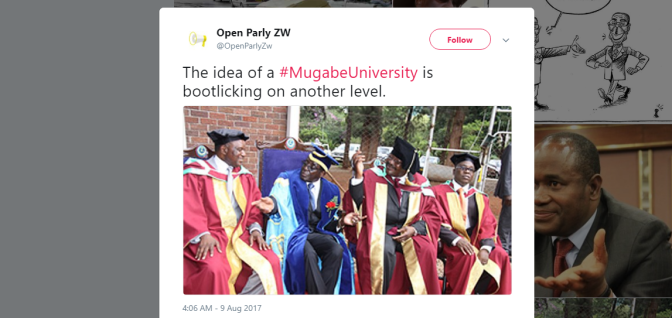 Why 92% of #Twimbos think Robert Mugabe University is a misplaced priority