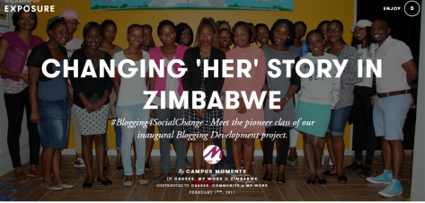 CHANGING HER STORY IN ZIMBABWE by Campus Moments Exposure
