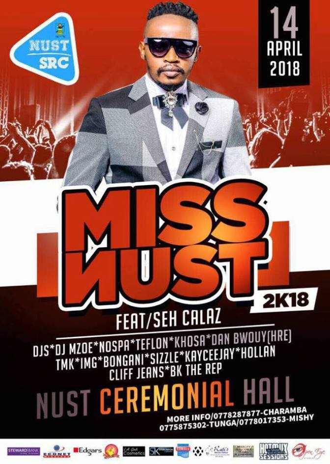 Seh Calaz billed for Miss Nust 2018