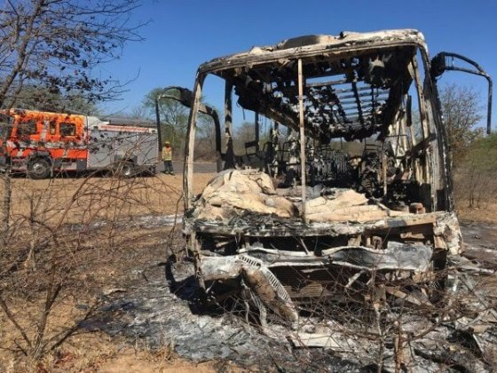 BREAKING: 30 die as SA bound bus catches fire